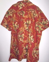 GEORGE FOREMAN 2XB/2X Big and Tall Red Hawaii Buttoned Short Sleeve Shir... - $11.43
