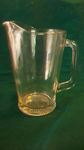 LARGE CLEAR GLASS BEER OR WATER PITCHER WITH RAISED TRIANGLES ON BOTTOM - $49.49