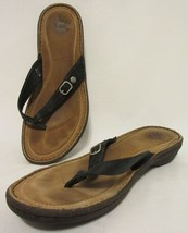 UGG Australia Women US 10 Dark Navy Blue Leather Sandals Flip Flop Sandals - $26.70