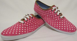 New! Keds Womens SZ 9 Hot Pink White Polka Dot Sneakers Walking Comfort ... - $34.62