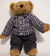 BIG HANDMADE IN VERMONT AUTHENTIC TEDDY BEAR FULLY JOINTED PLUSH STUFFED... - $28.66