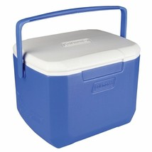 Blue Camping Cooler 16 qt Picnic Ice Chest Lid Handle Outdoor Drink Cont... - £17.07 GBP