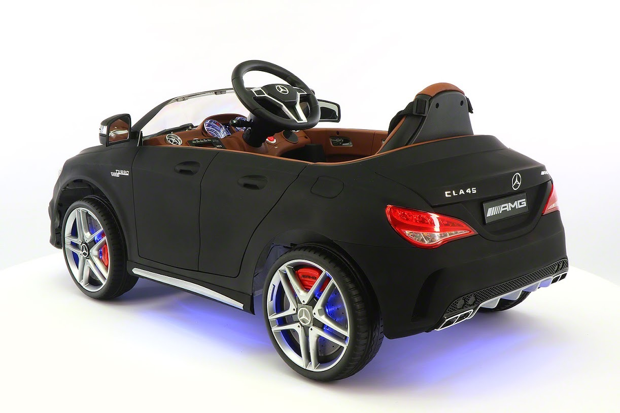 mercedes benz cla45 ride on toy car powered wheels mp3 usb. Black Bedroom Furniture Sets. Home Design Ideas