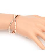 UE- Stylish & Trendy Rose Gold Tone Designer Infinity Bangle Bracelet  - $13.99