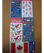 Stickers - Fairies, Thomas the Tank Engine, Dinosaurs, Cdn Flag Window C... - $5.95