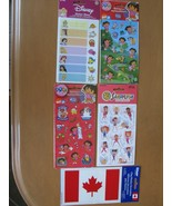 Stickers - Dora the Explorer, Fairies, Disney Princess, Flag Window Cling - $6.95