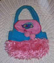 Webkinz Plush Carrier Purse Pink & Turquoise Cord & Fluff Plush- Free Sh... - $6.25
