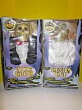 HTF!! RARE HALLOWEEN 1998 Gemmy Animated Talking Skeleton Bride & Groom ... - €102,92 EUR