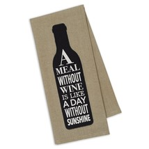 A Meal Without Wine Is Like a Day Without Sunshine Embellished Kitchen T... - $14.84