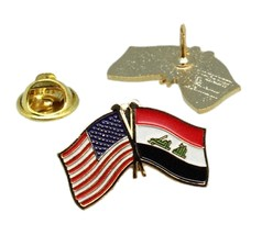 United States Iraq Iraqi Friendship Flag Lapel Pin - $4.99