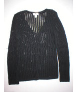New Womens Ann Taylor Loft Sweater Black Oversi... - $59.99