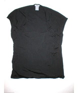 Womens L Ann Taylor Black Knit Top Silk Rayon N... - $48.00