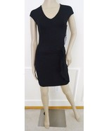 Nwt Bishop Young Gabrielle Knit Stretch Side Knot Dress Sz XS X-Small Bl... - $59.35