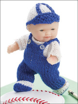 "Itty Bitty Knitties: 5"" baby Doll Clothes 11 PATTERNS: baseball, christening... - $9.53"