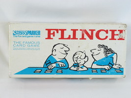 Flinch Card Game 1963 Parker Brothers 100% Complete Excellent Bilingual - $29.45