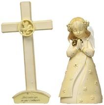 Enesco Foundations Communion Girl Set with Cross Figurine, 4-1/2-Inch image 2