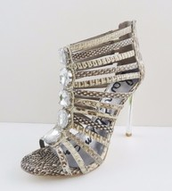 NIB Sam Edelman Hampton Ankle Caged Sandal Shoes Sz 7.5 M Sepia Snakeski... - $89.05