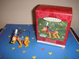 Hallmark 2001 Pluto Plays Triangle Mickey's Holiday Parade Ornament - $13.99