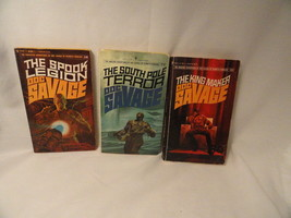 3 Doc Savage Paperbacks 16 77 80 Scif-Fi Adventure Mystery - $6.99