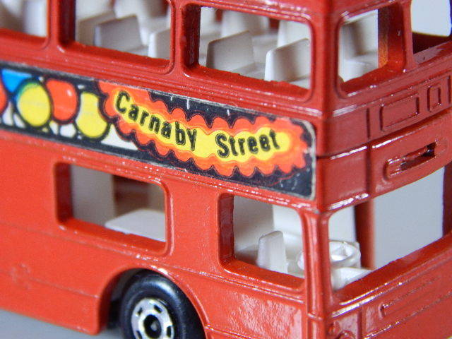 Matchbox Superfast London 1972 Lesney Red Bus No.17 The Londoner Made in England