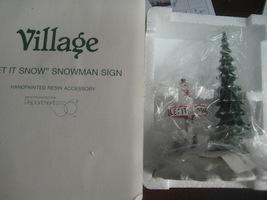 Department 56 Let It Snow Snowman Sign - $5.00