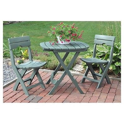 Outdoor Bistro Set Patio Garden Yard Dining Furniture 3 Piece Stools Table Cafe
