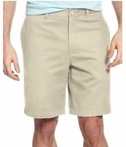Club Room Core Twill Shorts Flat Front Sandstone 38  - $19.78