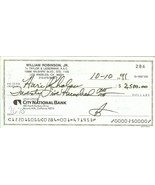 smokey robinson autograph check motown r &b soul music the miracles - $149.99