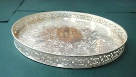 1966 vintage HEAVY SILVERPLATE ENGLAND TRAY engr W.C.C. BOWLING CHAMPS E... - $67.95