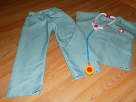 Size Small 4-6 Medic Costume Scrubs Doctor Nurse Vet Top Pants Stethosco... - $24.00