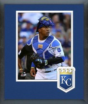 Salvador Perez 2016 Kansas City Royals - 11x14 Team Logo Matted/Framed Photo - $42.95