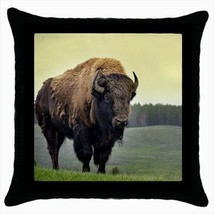 American Bison Throw Pillow Case - $16.44