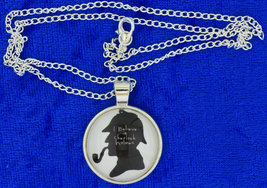 I Believe in Sherlock Holmes Necklace Cabochon Chain Style Length Choice - $4.99+