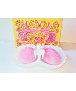 Avon White Lovebirds Soap Dish & Soaps Vintage NIB Milk Glass Shell Figu... - $25.00