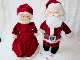 Santa & Mrs Claus Art Dolls Set Vintage Handmade Christmas Holiday Home ... - $150.00