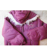 Girls Coat Girls Jacket Hooded Purple Vintage Sz 8 New Child Winter Padd... - $45.00
