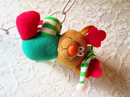 Christmas Reindeer Plush Doll Toy Clip On Vintage Elf Reindeer Stuffed Animal St - $16.00