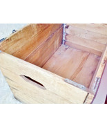 Hubbard Folding Box Co Wire Sewed Wood Shipping Crate Antique Vintage Pr... - $125.00