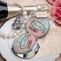Pretty Paris Themed Mirror Compact Wedding Favor Reception Gift French Vintage - $3.64