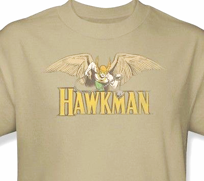 Hawkman T shirt retro 80's cartoon DC superhero comic justice league tee dco176