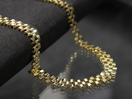 "Mens 14k Gold Plated 12mm HQ Hip Hop Style Chain Necklace 30"" Inches - $58.41"