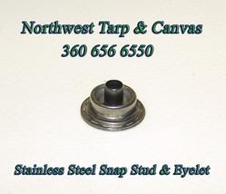 Stainless Steel Snap Fastener Stud & Eyelet, Line 24, Marine Grade, 50 Pc. Set image 2