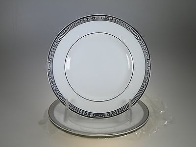 Royal Worcester Corinth Platinum Bread & Butter Plates Set of 3 Made in England