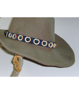 American Made! Bamboo & Leather Hat-Band, Genuine Suede Leather with Bam... - $20.95