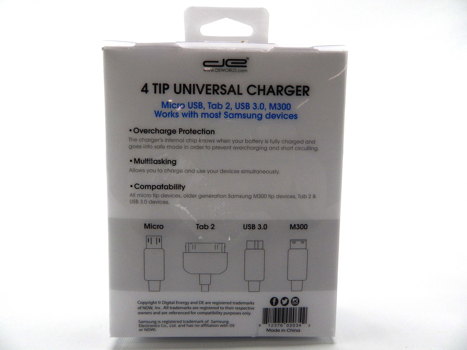 4 Tip Universal Charger