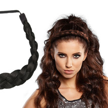 "Milano Collection PREMIUM Braided Head Hairband 1/2"" Thick Headband - Black - €16,58 EUR"