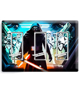 STAR WARS KYLO REN FIRST ORDER STORMTROOPERS TRIPLE GFCI LIGHT SWITCH WALL PLATE - $16.19