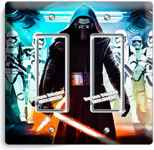 STAR WARS KYLO REN FIRST ORDER STORMTROOPERS DOUBLE GFCI LIGHT SWITCH WA... - $14.99