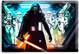 STAR WARS KYLO REN FIRST ORDER STORMTROOPERS TRIPLE LIGHT SWITCH WALL PL... - $18.99