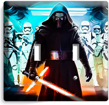 STAR WARS KYLO REN FIRST ORDER STORMTROOPERS DOUBLE LIGHT SWITCH WALL PL... - $13.99